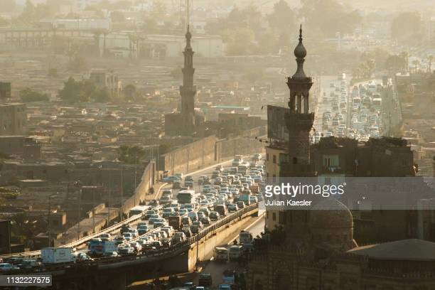 cairo traffic - egypt stock pictures, royalty-free photos & images