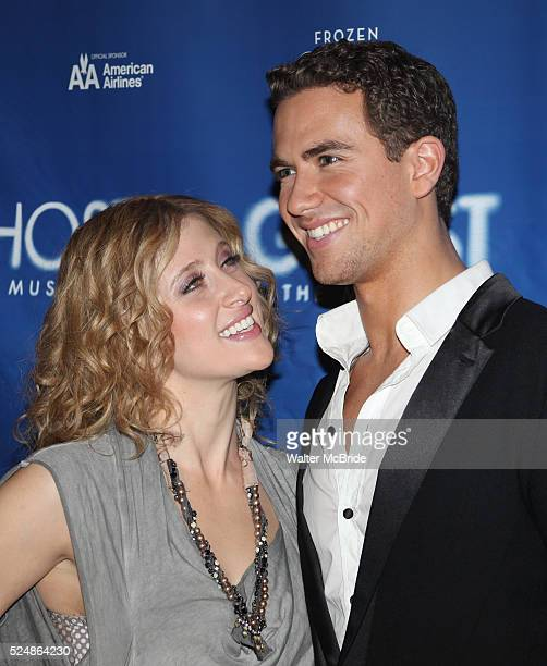 Caissie Levy Richard Fleeshman attending the 'Ghost the Musical' Meet Greet at the LuntFontanne Theatre in New York on 1/19/2012