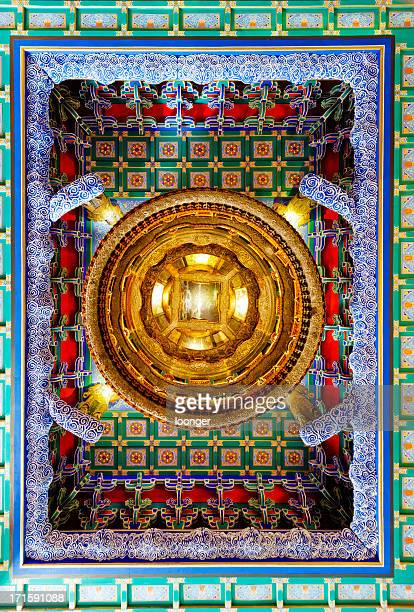 Caisson ceiling of ancient temple,Beijing,China