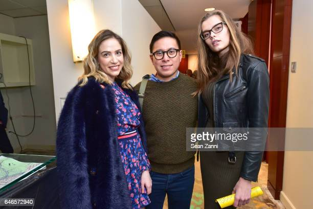 Cait Munro Michael Espiritu and Solveig Mork attend Spring Break Art Fair 2017 Vernissage at 4 Times Square on February 28 2017 in New York City