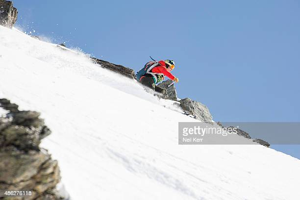 Caite Zeliff of USA competes in the Big Mountain Qualifiers during The Freeski Open NZ at The Remarkables on September 3 2015 in Queenstown New...