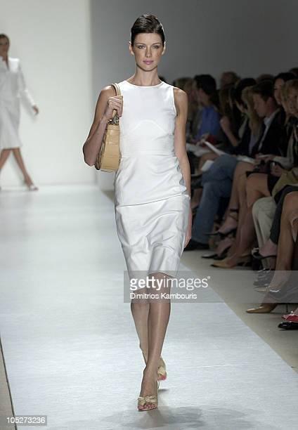 Caitiona Balfe wearing Oscar de la Renta Spring 2004