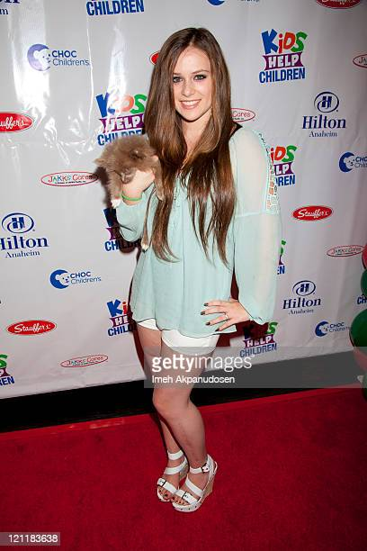 Caitlin Beadles attends the Kids Help Children Charity Event Benefiting CHOC Children's Hospital at Anaheim Hilton Hotel on August 14 2011 in Anaheim...