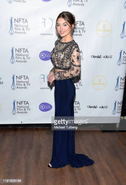 Caitlin Carmichael attends the 2nd annual National Film and TV Awards at Globe Theatre on December 03 2019 in Los Angeles California