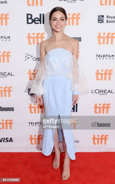 Caitlin Carver attends the I Tonya premiere during the 2017 Toronto International Film Festival at Princess of Wales Theatre on September 8 2017 in...