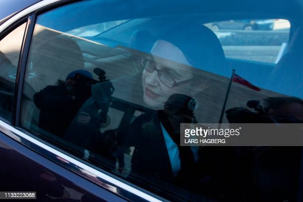 Caitlin Coleman leaves the Ottawa court house in Ottawa Ontario on March 27 2019 A couple who split after a fiveyear hostage ordeal in Afghanistan...