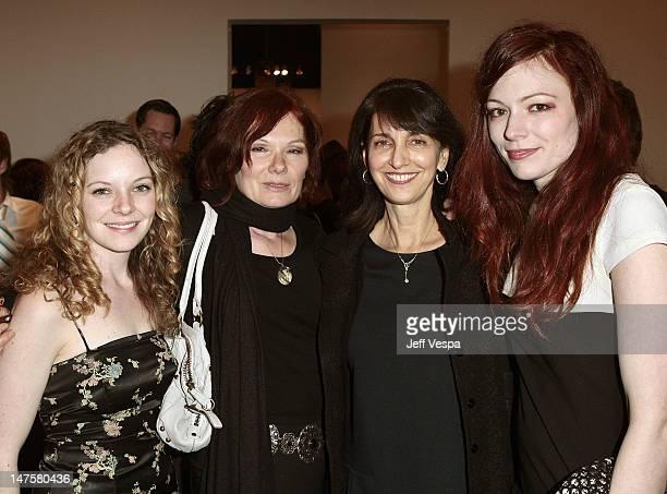 "Caitlin Dahl, Renata Helnwein, Ruth Vitale and Mercedes Helnwein attend ""The Bryten Goss 2008 Memorial Exhibition"" held at Track 16 Gallery in..."