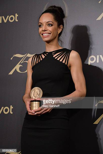 Caitlin Dickerson poses with award during The 75th Annual Peabody Awards Ceremony at Cipriani Wall Street on May 21 2016 in New York City