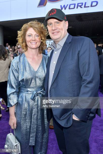 Caitlin Feige and Marvel Studios President Kevin Feige attend the world premiere of Walt Disney Studios Motion Pictures Avengers Endgame at the Los...