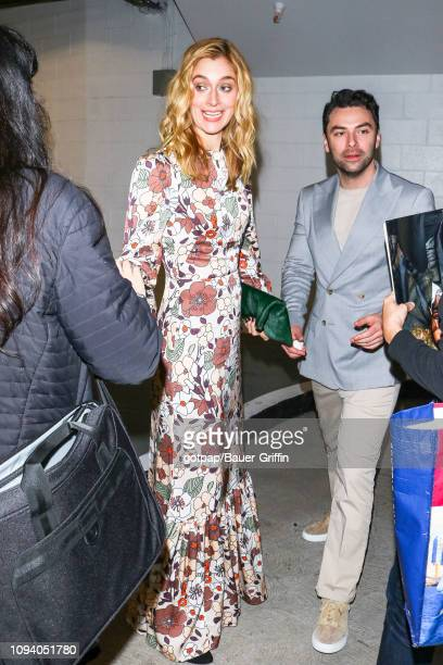 Caitlin Fitzgerald and Aidan Turner are seen on February 04 2019 in Los Angeles California