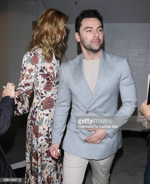 Caitlin Fitzgerald and Aidan Turner are seen on February 4 2019 in Los Angeles CA