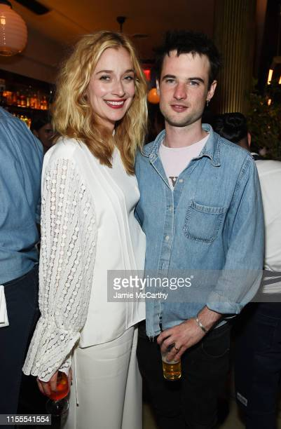 Caitlin FitzGerald and Tom Sturridge attend the Sweetbitter Season Two NY premiere on June 12 2019 at The Roxy Cinema in New York City