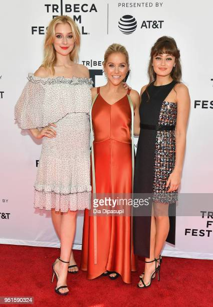 Caitlin FitzGerald Stephanie Danler and Ella Purnell attend the screeing of Sweetbitter during the 2018 Tribeca Film Festival at SVA Theatre on April...