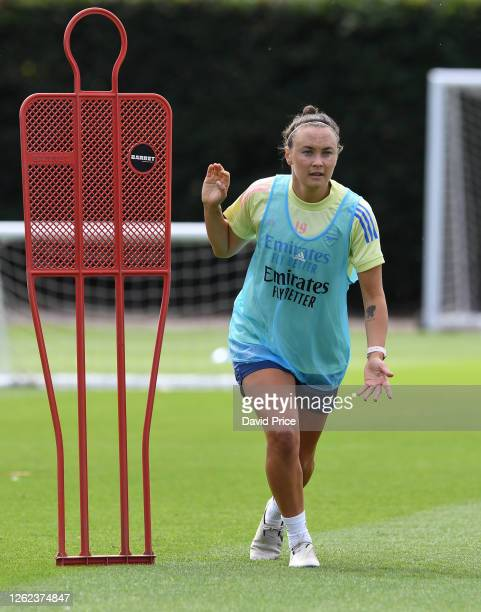 Caitlin Foord of Arsenal during the Arsenal Women training session at Arsenal Academy on July 29 2020 in Walthamstow England