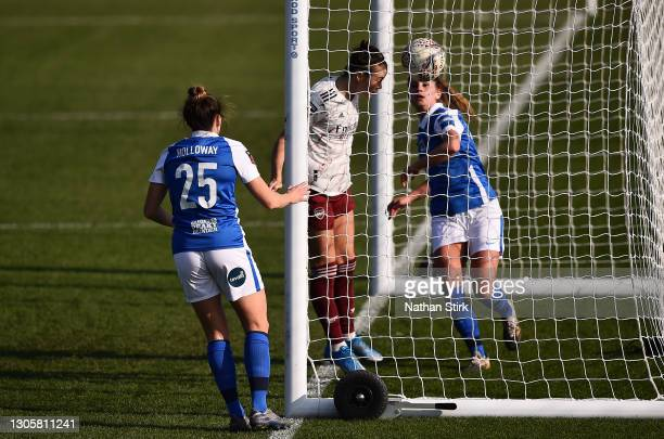 Caitlin Foord of Arsenal scores their side's first goal during the Barclays FA Women's Super League match between Birmingham City Women and Arsenal...