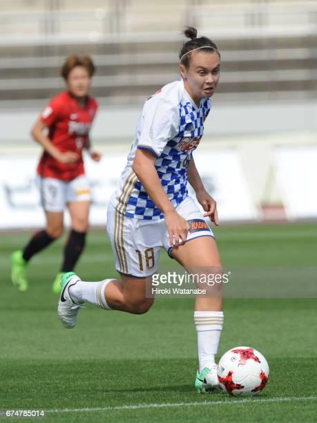 Caitlin Foord of Mynavi Vegalta Sendai Ladies in action during the Nadeshiko League match between Urawa Red Diamonds Ladies and Mynavi Vegalta Sendai...