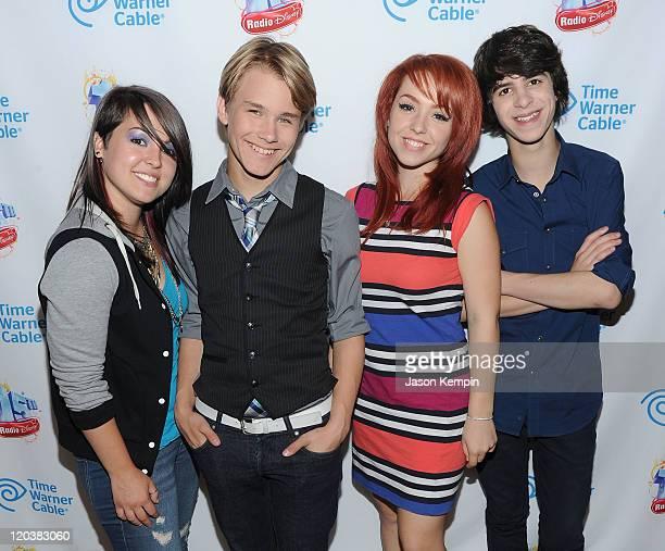 Caitlin Kalafus, Duran Visek, Carly Kalafus and Ben Spremulli of The Kicking Daisies attend Radio Disney's Birthday Jam at the Hard Rock Cafe - Times...