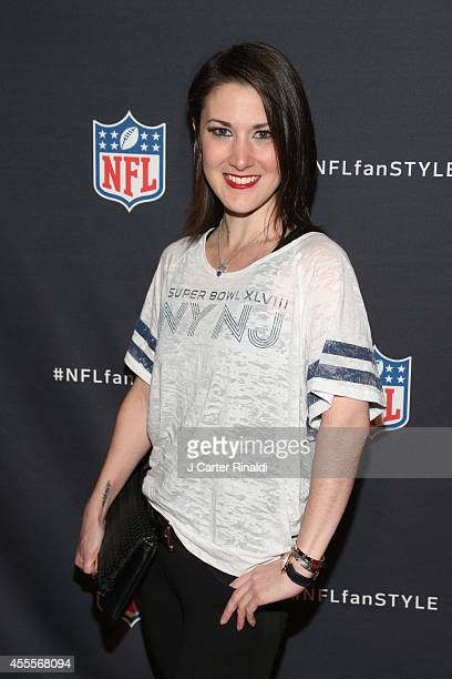 Caitlin Kelly attends NFL Inaugural Hall Of Fashion Launch Event at Pillars 37 on September 16 2014 in New York City