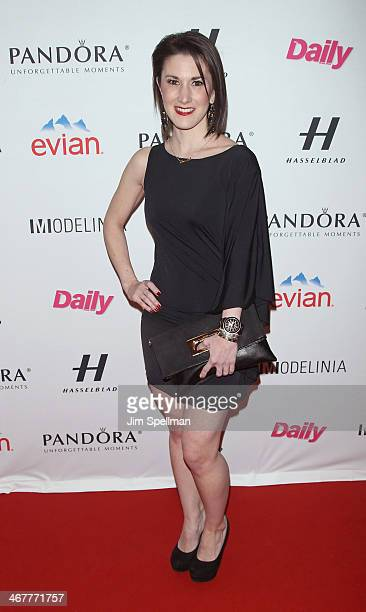 Caitlin Kelly attends The Daily Modelinia Present The Models Issue Party at Harlow on February 7 2014 in New York City