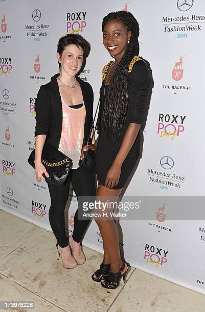 Caitlin Kelly Designer of Caitlin Kelly Swimwear and Kemi Adaramola Brand Manager for Caitlin Kelly Designer Swimwear attend the MercedesBenz Fashion...