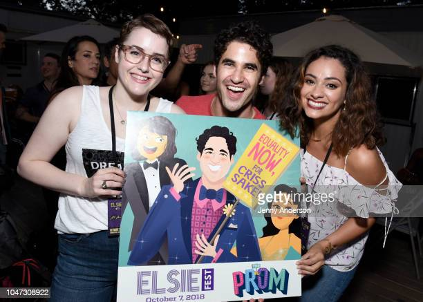 Caitlin Kinnunen Darren Criss and Isabelle McCalla attend the 4th Annual Elsie Fest Broadway's Outdoor Music Festival at Central Park SummerStage on...