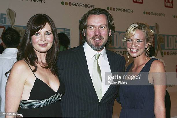 Caitlin McDougall Erik Thomson and Jessica Napier and arrive at the 47th Annual TV Week Logie Awards at the Crown Entertainment Complex on May 1 2005...