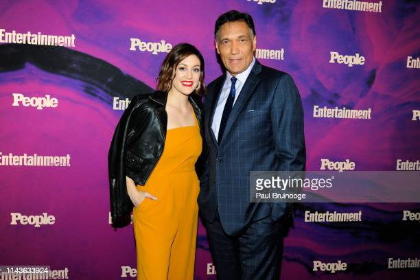 Caitlin McGee and Jimmy Smits attend Entertainment Weekly And People Celebrate The New York Upfronts at Union Park NYC on May 13 2019 in New York City