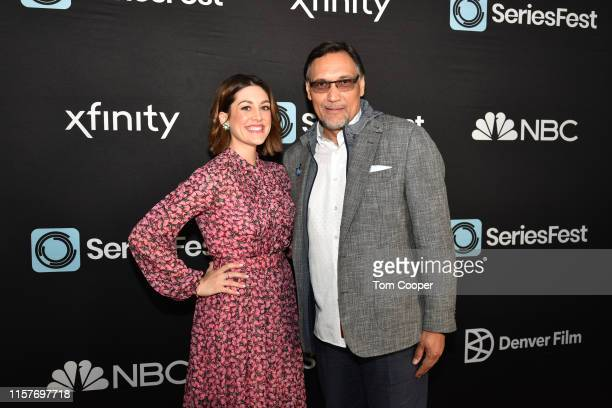 Caitlin McGee and Jimmy Smits of NBC's Bluff City Law at Seriesfest Season 5 at Sie FilmCenter on June 22 2019 in Denver Colorado