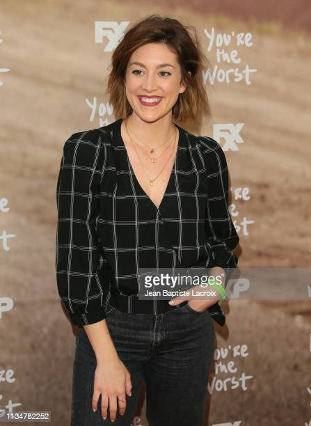 Caitlin McGee attends FXX's 'You're The Worst' For Your Consideration event at Regal Cinemas LA Live on April 03 2019 in Los Angeles California