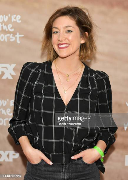 Caitlin McGee attends FXX's You're The Worst For Your Consideration Red Carpet Event at Regal Cinemas LA Live on April 03 2019 in Los Angeles...