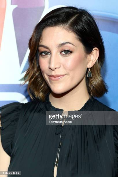 Caitlin McGee attends the 2019 TCA NBC Press Tour Carpet at The Beverly Hilton Hotel on August 08 2019 in Beverly Hills California