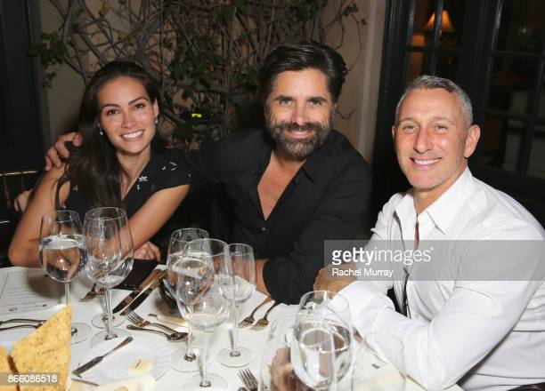 Caitlin McHugh John Stamos and Adam Shankman attend The Elizabeth Taylor AIDS Foundation and mothers2mothers dinner at Ron Burkle's Green Acres...
