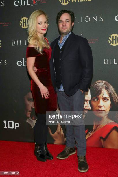 Caitlin Mehner and Actor Danny Strong attend Showtime's 'Billions' Season 2 premiere held at Cipriani 25 Broadway on February 13 2017 in New York City