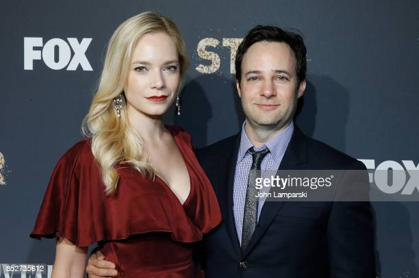 Caitlin Mehner and Danny Storng attend 'Empire' 'Star' celebrate FOX's New Wednesday Night at One World Observatory on September 23 2017 in New York...