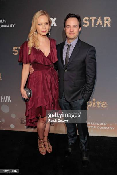 Caitlin Mehner and Danny Storng pose on the red carpet during the 'Empire' 'Star' Celebrate FOX's New Wednesday Night at One World Observatory on...