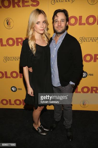 Caitlin Mehner and Danny Strong attend 'Dolores' New York Premiere at Metrograph on August 21 2017 in New York City