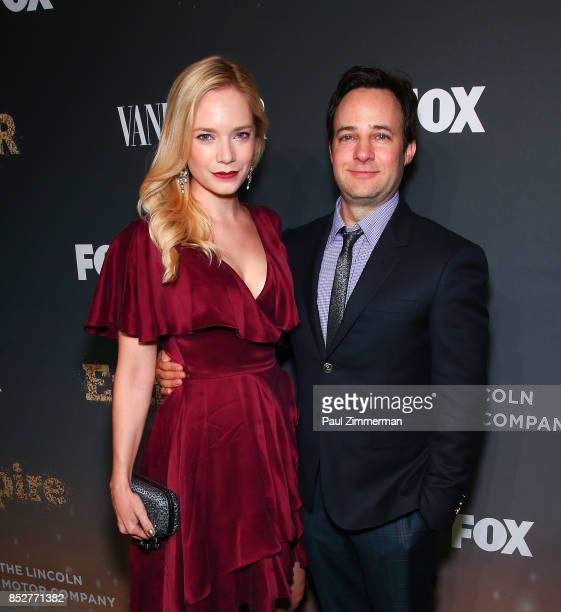 Caitlin Mehner and Danny Strong attend 'Empire' 'Star' Celebrate FOX's New Wednesday Night Red Carpet at One World Observatory on September 23 2017...