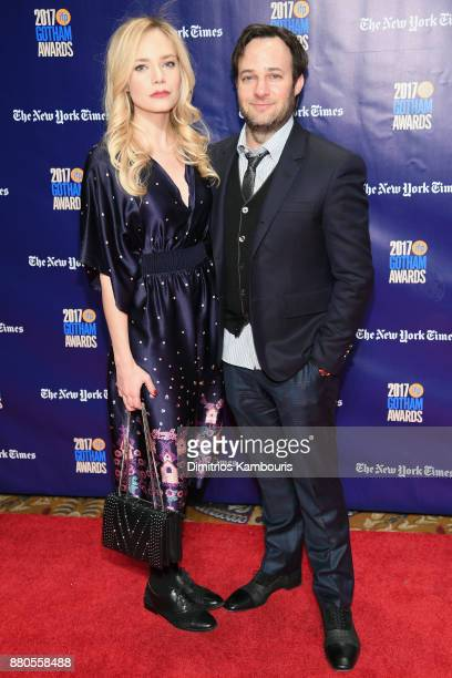 Caitlin Mehner and Danny Strong attend IFP's 27th Annual Gotham Independent Film Awards on November 27 2017 in New York City
