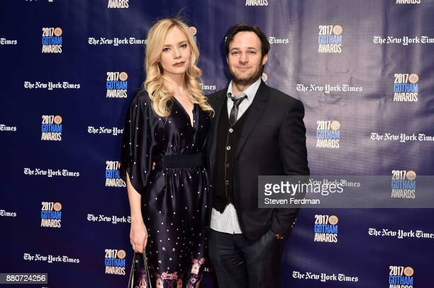 Caitlin Mehner and Danny Strong attend IFP's 27th Annual Gotham Independent Film Awards at Cipriani Wall Street on November 27 2017 in New York City