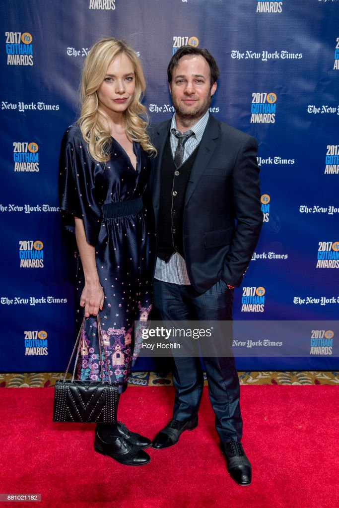 Caitlin Mehner and Danny Strong attend the 2017 IFP Gotham Awards at Cipriani Wall Street on November 27, 2017 in New York City.