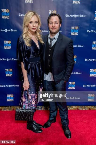 Caitlin Mehner and Danny Strong attend the 2017 IFP Gotham Awards at Cipriani Wall Street on November 27 2017 in New York City