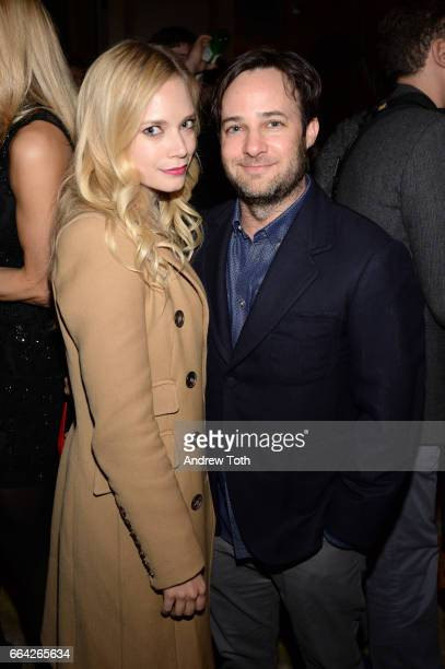 Caitlin Mehner and Danny Strong attend 'The Assignment' New York screening after party at the Whitby Hotel on April 3 2017 in New York City