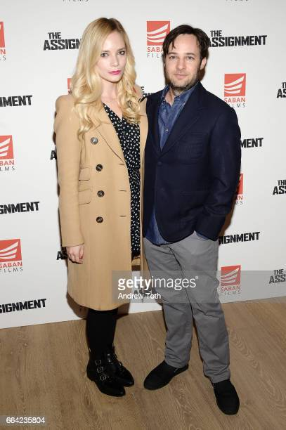 Caitlin Mehner and Danny Strong attend 'The Assignment' screening at the Whitby Hotel on April 3 2017 in New York City