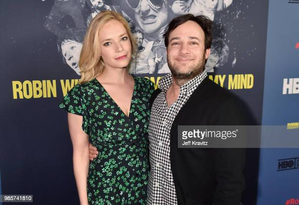 Caitlin Mehner and Danny Strong attend the Los Angeles Premiere of Robin Williams Come Inside My Mind from HBO on June 27 2018 in Hollywood California