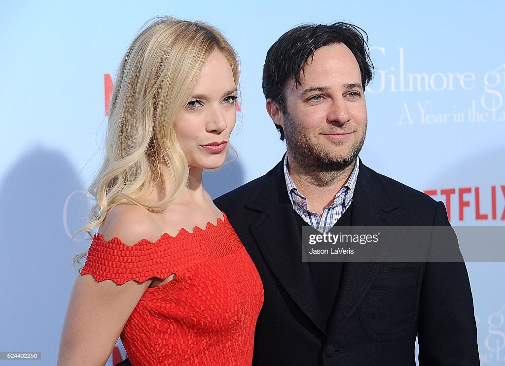Caitlin Mehner and Danny Strong attend the premiere of 'Gilmore Girls: A Year in the Life' at Regency Bruin Theatre on November 18, 2016 in Los Angeles, California.