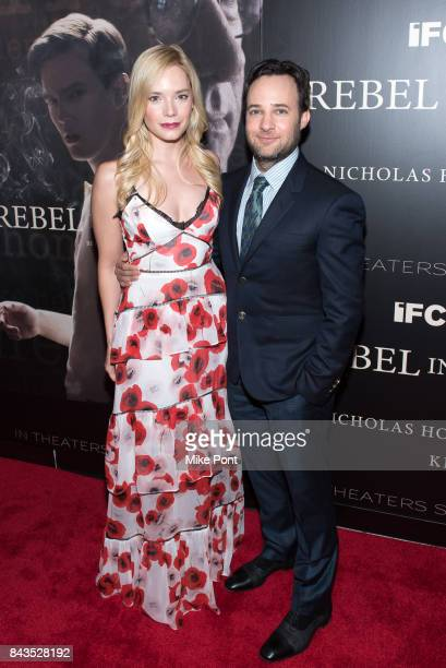 Caitlin Mehner and Danny Strong attend the 'Rebel in the Rye' New York Premiere at Metrograph on September 6 2017 in New York City