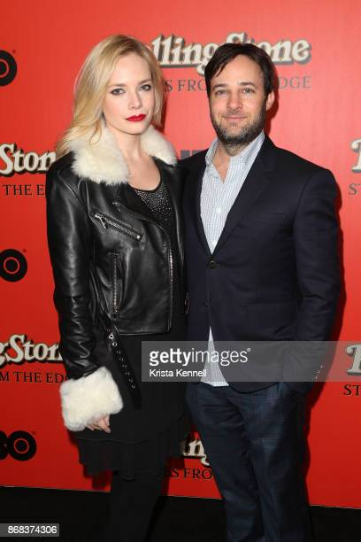 Caitlin Mehner and Danny Strong attend the 'Rolling Stone Stories From The Edge' World Premiere at Florence Gould Hall on October 30 2017 in New York...