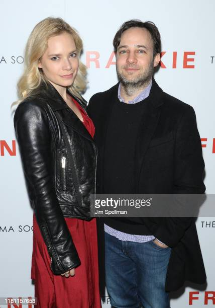 """Caitlin Mehner and Danny Strong attend the special screening of """"Frankie"""" hosted by Sony Pictures Classics and The Cinema Society at Metrograph on..."""
