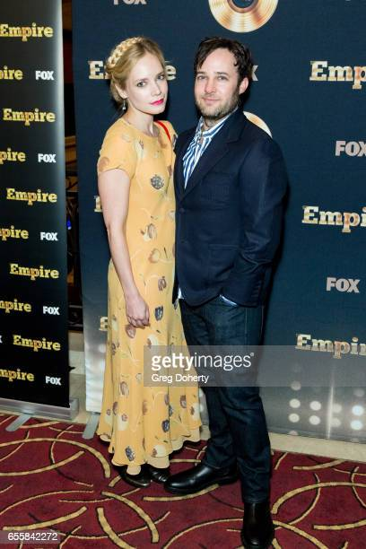 Caitlin Mehner and Danny Strong attend the Spring Premiere Of FOX's 'Empire' at Pacific Theatres at The Grove on March 20 2017 in Los Angeles...