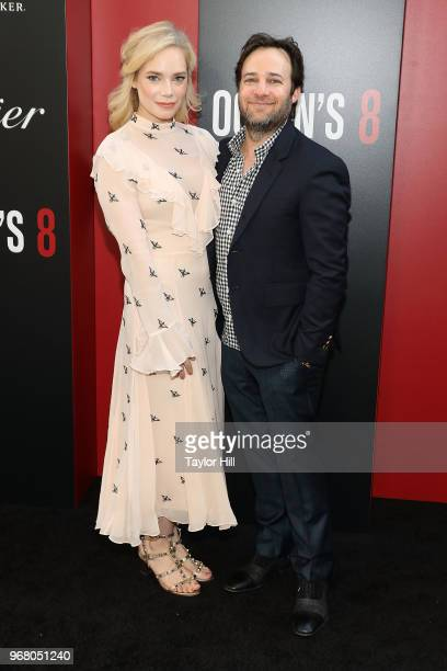 Caitlin Mehner and Danny Strong attend the world premiere of 'Ocean's 8' at Alice Tully Hall at Lincoln Center on June 5 2018 in New York City